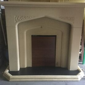 Fire place surround stone look