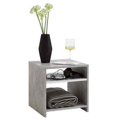 FMD Coffee Table with Shelf Concrete Grey and White Living Room Furniture