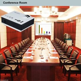 Mini Portable LED 1080P Projector Home Cinema For iPhone Sumsung Tablet PC DVD