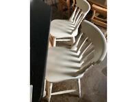 Bar Stool White Chairs (2)