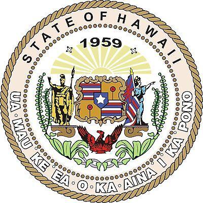 PREMIUM Aufkleber Wappen von Hawaii USA Auto Motorrad car Sticker Autoaufkleber