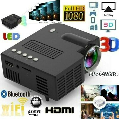 1080P Mini LED Smart Home Theater Projector  FHD 3D AV USB Video Movie Portable
