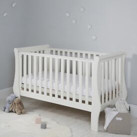 The White Company cot bed with mattress