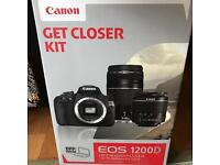 Canon 1200D get closer starter kit with additional long distance lense and Canon case DSLR