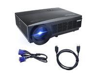 Projector, Video Projector HD 1080p 3300 Lumen LCD Projectors 1280*800