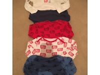 9-12 12-18 boys baby grows and vests