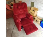 Electric Recliner Chair - Top of the Range - Red Velvet