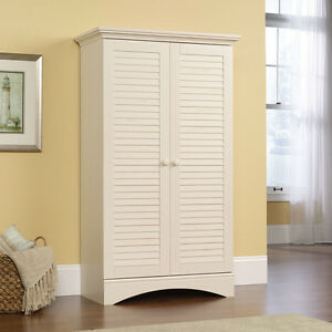 Storage Cabinet Linen Closet Distressed Furniture Office Pantry Shelves Bedding