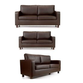 3+2 seater brand new leather sofas Nexy day free delivery