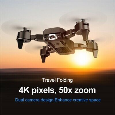 Dual Camera WIFI FPV 4K HD Camera Wide-angle Optical-Flow Foldable Drone
