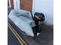 Waveline 290ss inflatable dinghy with outboard motor