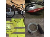 Apollo spiral mountain bike and accessories