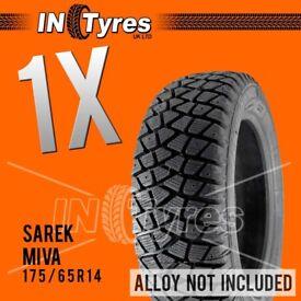 1x 175/65R14 Sarek Miva / Alaska Tyres 175/ 65r 14 Shore60 Autograss /Rally /Track