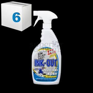 Ink-Out Pro Stain Remover 32 Ounce For Pen Inks And Marker Case Of 6