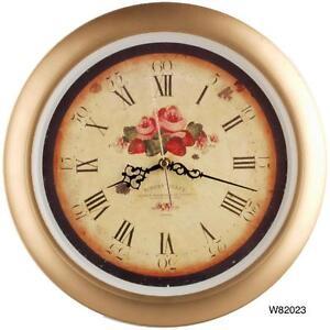 "14"" Vintage Style Quality Plastic Wall Clock-W82023/24/W81015"