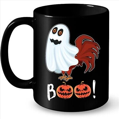 Chicken Boo Funny Halloween Pumpkin Coffee Black Mug