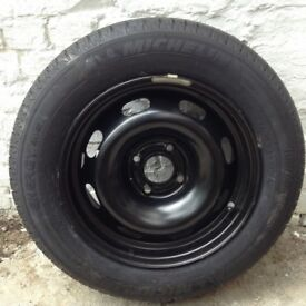 Car tyre on wheel rim