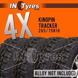 4x 265/75r16 Kingpin Tracker 265 75 16 MT Mud Terrain Like Insa Turbo x4 Tyres