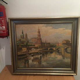 Painting of Dresden by K. Hubschmann