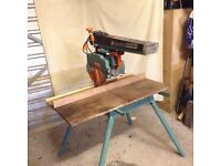 Dewalt radial arm saw 240v in perfect condition. With two tipped blades. Bargain.
