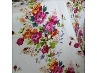 Two pairs of floral curtains