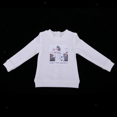 Doll Sweatshirt Pullover Top for 1/4 BJD Boy Dolls Dress up Clothes White - Dress Up Clothes For Boy
