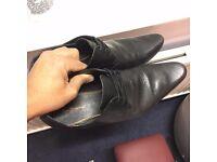 Ben Sherman black leather shoes size 10