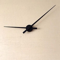 3D Clock Hands DIY Large Clock Hand Needles Wall Clocks Battery Power Black