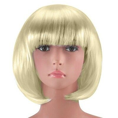 Blonde Sexy Short Bob Cut Fancy Dress Wigs Play Costume Wig Party Stag Do - Cute Blonde Kostüm