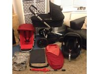 ***QUINNY BUZZ PUSHCHAIR** + CARRYCOT + MAXI COSI CAR SEAT + FOOTMUFF + BLANKET + PARASOL VVGC