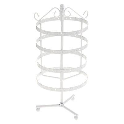 148 Holes Metal Earrings Jewelry Rotating Display Stand Rack Shelf White