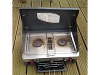 2 Burner camping stove and grill in good condition