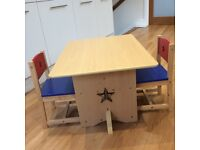 Child's table and chairs GLTC