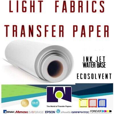 Ink Jet Printable Light Fabrics Heat Transfer Paper Roll 24x50