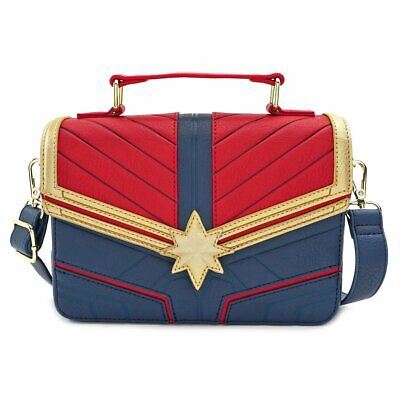 Loungefly CAPTAIN MARVEL FAUX LEATHER CROSS BODY - NEW!
