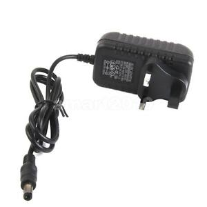 UK Plug AC to DC 9V 1A Power Supply Charger Converter Adaptor Adapter 5.5mm