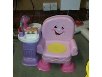 Fisher price. Pink music chair