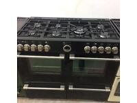 Black stoves 100cm eight burners gas cooker grill & double ovens good condition with guarantee
