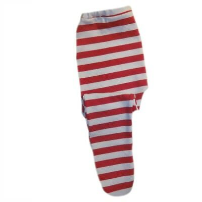 Baby Girls Red and White Striped Tights - 6 Preemie, Newborn and Toddler Sizes - Red And White Tights