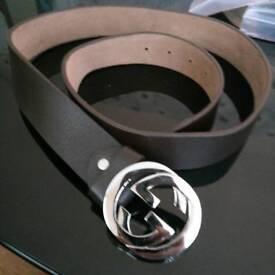 Mens black leather belts