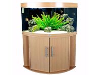 Juwel Trigon 190 Aquarium and Cabinet in Beech, including, Filter, Heater and lights