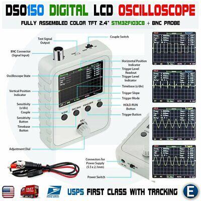 Dso150 Digital Oscilloscope Fully Assembled 2.4 Lcd 15001k Diy Kit Bnc Probe Us