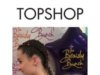 HAIR BRAIDING £10 TOPSHOP BIRMINGHAM BULLRING