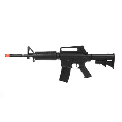 Well M4 Airsoft Gun Full Auto AEG Black Electric Rifle D94S Battery Charger BBs