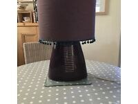 Table lamp with Pom Pom shade