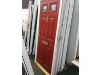 U#34 red composite front door