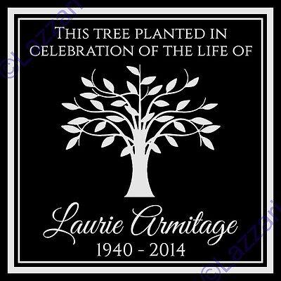 Personalized Tree Planting Dedication Ceremony Memorial Granite Marker Plaque