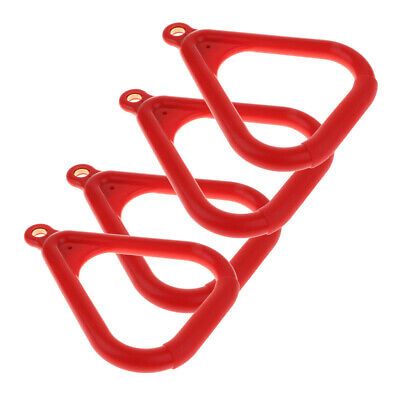 Used, Outdoor Trapeze Gym Rings Plastic Coated Ring Swing Set Replacements Red for sale  Shipping to South Africa