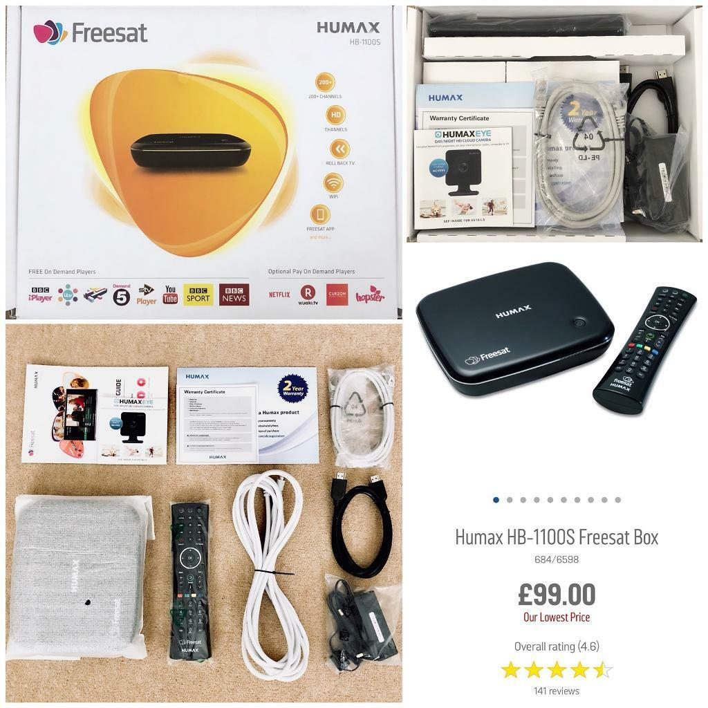 RRP £99 00 As New Humax HB-1100s Freesat Satellite Receiver Tv Box HD On  Demand WiFi Freeview | in Stoke-on-Trent, Staffordshire | Gumtree