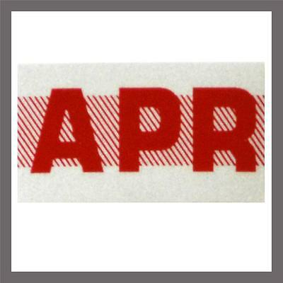 April Month California DMV License Plate Red Registration Sticker Tag YOM CA